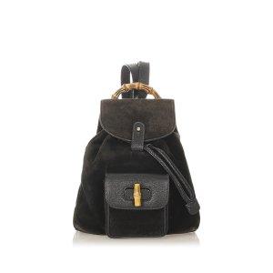 Gucci Backpack black suede