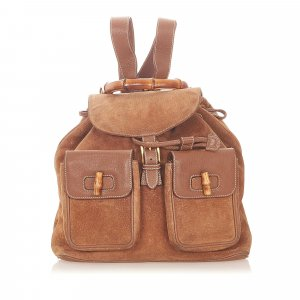 Gucci Backpack brown suede