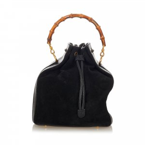 Gucci Shoulder Bag black suede
