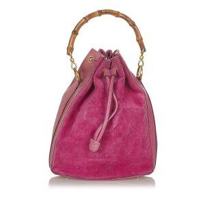 Gucci Bamboo Suede Bucket Bag