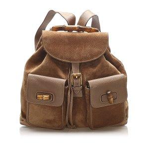 Gucci Backpack khaki suede