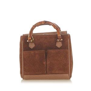 Gucci Handbag brown suede