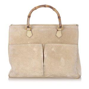 Gucci Handbag beige suede