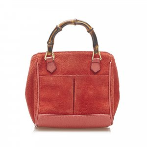 Gucci Satchel rood Suede