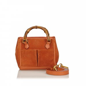 Gucci Bamboo Suede Satchel