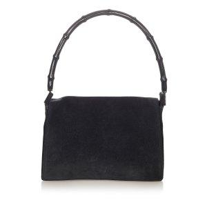 Gucci Bamboo Suede Shoulder Bag