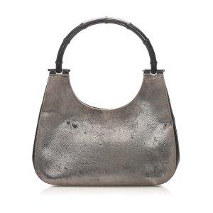 Gucci Bamboo Velvet Shoulder Bag