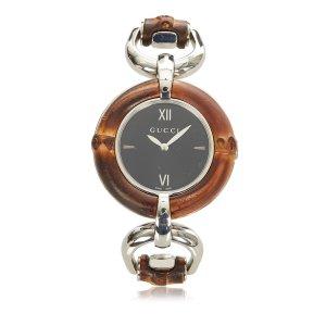 Gucci Reloj marrón acero inoxidable