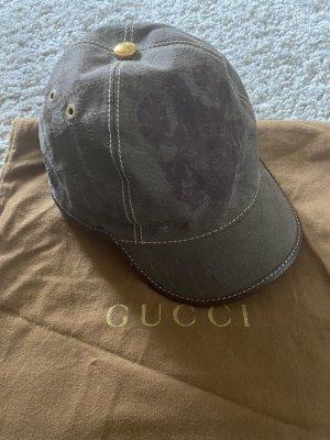 Gucci Berretto da baseball marrone scuro-cachi