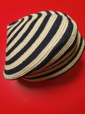 Gucci Cappello di paglia bianco-blu scuro