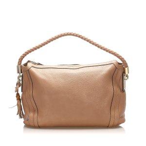 Gucci Bolso de compra marrón claro Cuero