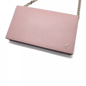 Gucci Portefeuille rose clair cuir