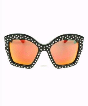 Gucci Lunettes papillon noir-argenté