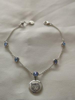 Gucci Braccialetto sottile argento-azzurro