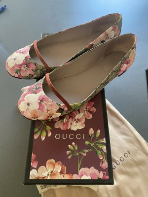 Gucci Strappy Ballerinas light pink-white leather