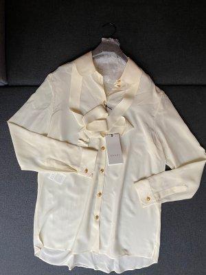 Gucci Bluzka z długim rękawem w kolorze białej wełny