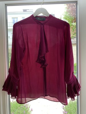 Gucci Jedwabna bluzka fioletowy Jedwab