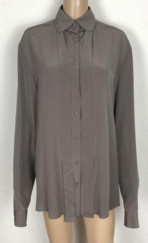 Gucci Jedwabna bluzka szaro-brązowy Jedwab