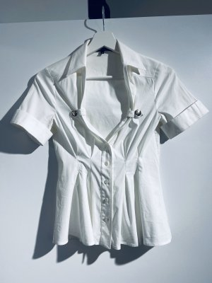 Gucci Bluse weiß mit Dekolleté, Gr IT38