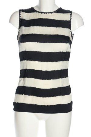 Gucci Blusentop schwarz-weiß Streifenmuster Business-Look