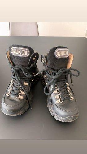 Gucci Bottes de neige noir tissu mixte