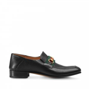 Gucci Bright Bit Web Loafers