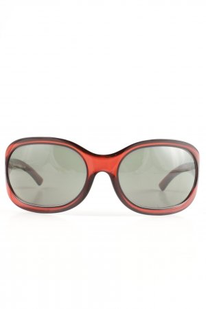 Gucci Brille rot-khaki Casual-Look