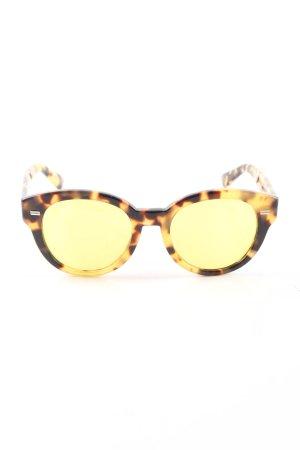 Gucci Gafas amarillo pálido-marrón estampado de leopardo look casual