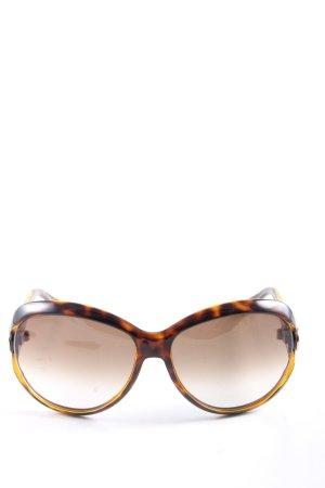 Gucci Okulary brąz-jasny pomarańczowy Na całej powierzchni W stylu casual