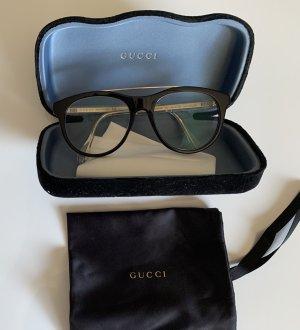 Gucci Okulary czarny-złoto