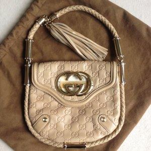 Gucci Britt Tassel Bag Tasche beige Leder wie neu