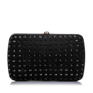Gucci Broadway Suede Crystal Clutch Bag