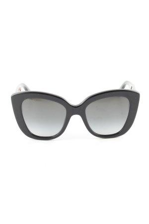 Gucci Butterfly bril zwart zakelijke stijl
