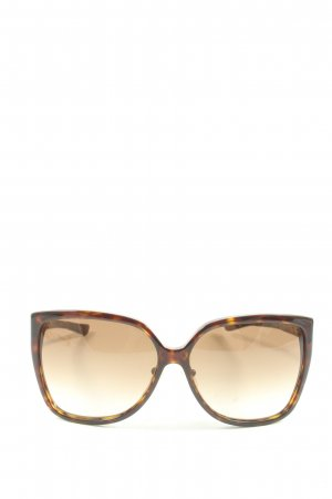 Gucci Butterfly bril bruin-licht Oranje casual uitstraling