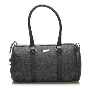 Gucci Canvas Boston Bag