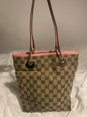 Gucci Handbag grey brown-light pink