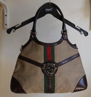 Gucci Sac hobo beige fibre textile