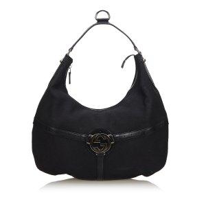Gucci Canvas Reins Hobo Bag