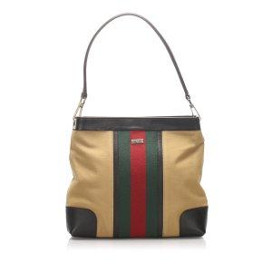 Gucci Canvas Web Shoulder Bag