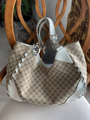 Gucci Hobos natural white-beige leather