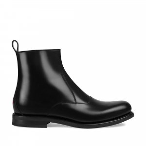 Gucci Chelsea Leather Low Boots