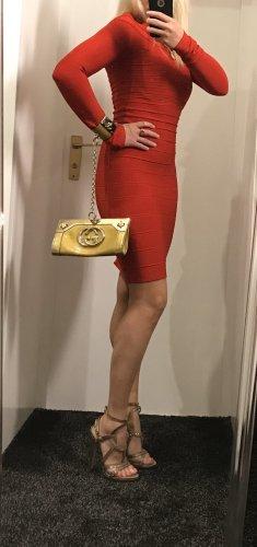 Gucci clutch gold mit Armkette Tasche