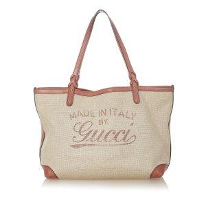 Gucci Craft Canvas Tote Bag