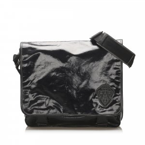 Gucci Crest Coated Canvas Crossbody Bag
