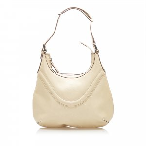 Gucci Crest Leather Hobo Bag