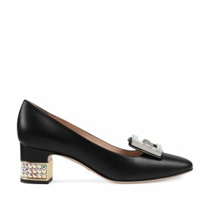 Gucci Crystal G Embellished Pumps