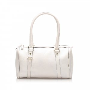 Gucci D-ring Leather Boston Bag