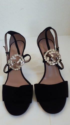 Gucci Sandalias de tacón alto negro