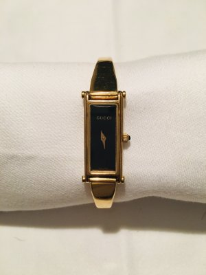 Gucci Horloge met metalen riempje zwart
