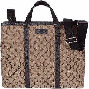 GUCCI Damentasche Handtasche Tote Groß Guccissima Canvas GG Borsa Donna Original